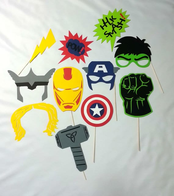 MARVEL Avengers Photo Booth Props