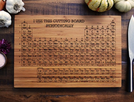 Periodical Cutting Board