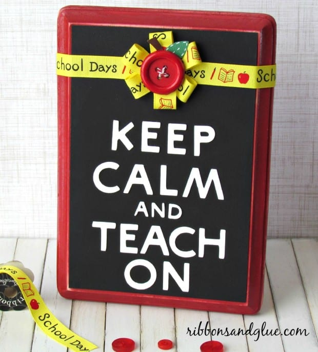 keep calm and teach on sign