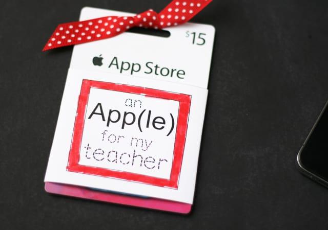 Apple Gift Card printable