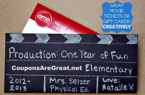 Creatively Wrapped Movie Ticket Gift Idea