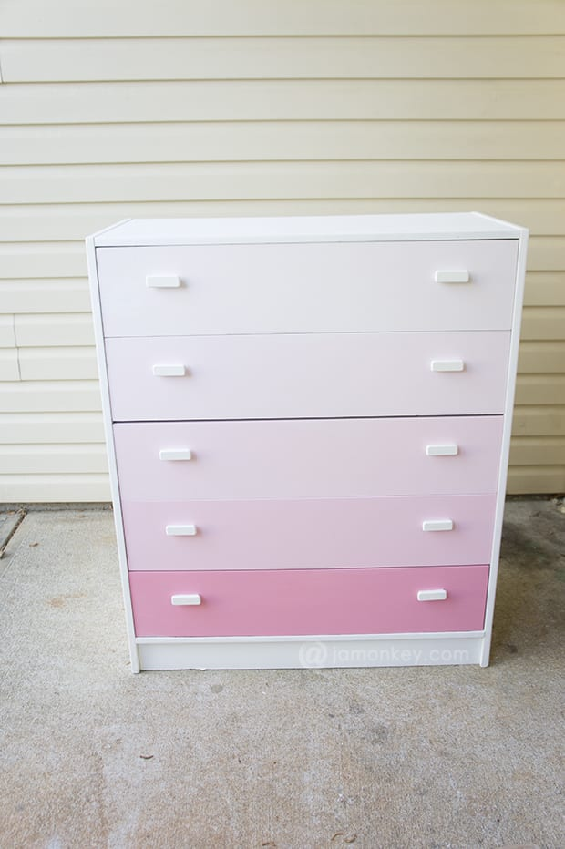 Upcycled Ombre Dresser