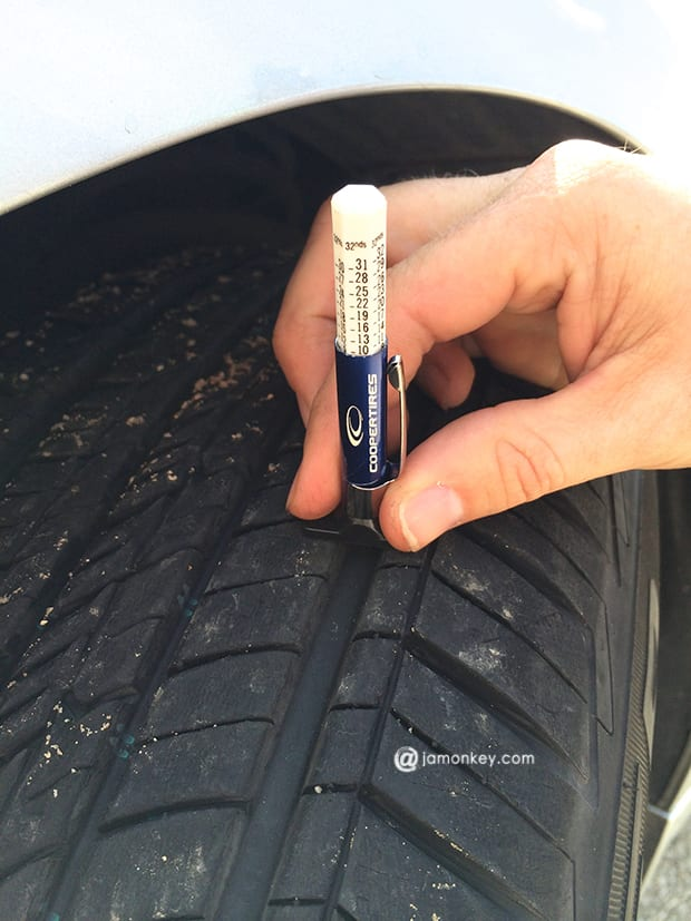 Tire Tread wear gauge
