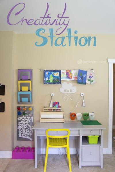 Creativity Station - Art, Homework and LEGO Table