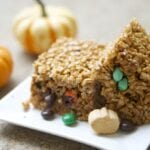Pumpkin Spice Chocolate Surprise Rice Krispies Treats