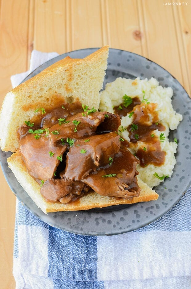 Slow Cooker Hot Roast Beef