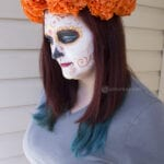 Paper Mexican Marigold Flower Headpiece Craft