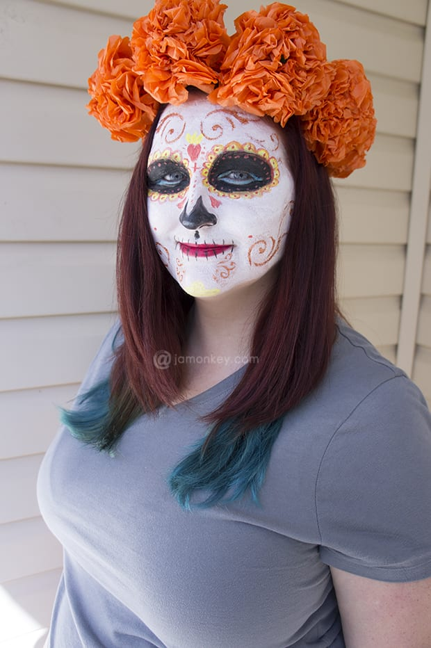 Book of Life La Muerte Sugar Skull Day of the Dead Make Up Tutorial