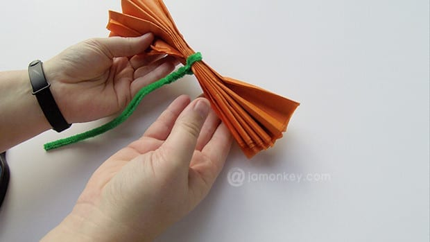 Secure with a pipe cleaner