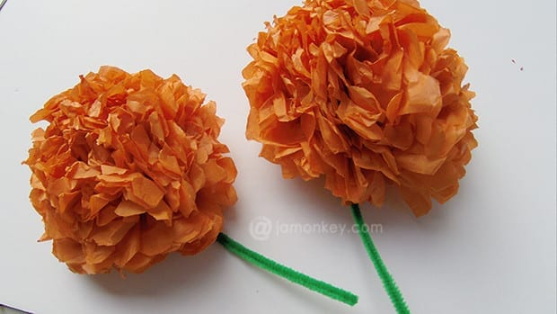 Paper Mexican Marigolds