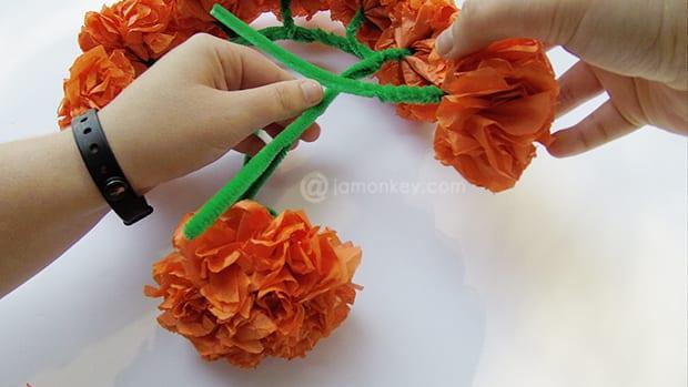 Paper flower head piece