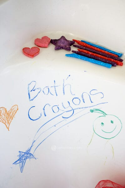 DIY Bath Crayons by Creative Galaxy