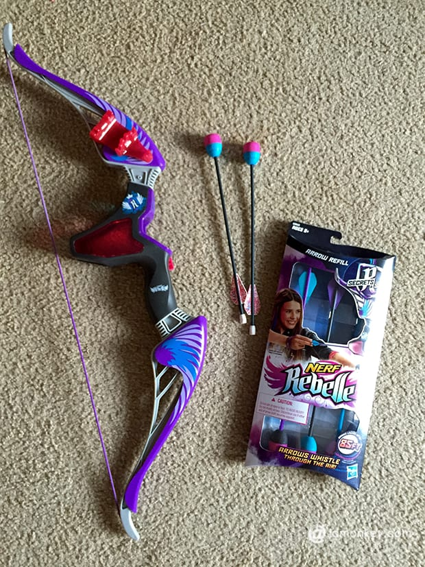 NERF Rebelle Agent Bow and Arrows