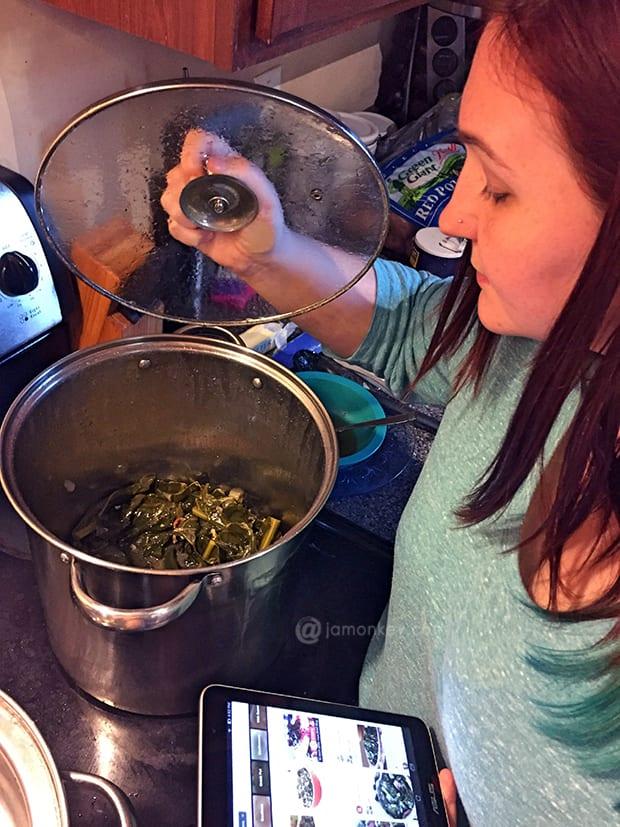 Making Collard Greens