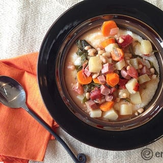 Ham, Kale and Navy Bean Stew – Slow Cooker eMeals