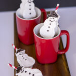 Homemade Snowmen Marshmallow Straws