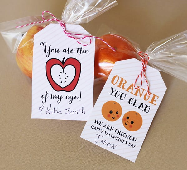 Fruit Valentine Tags
