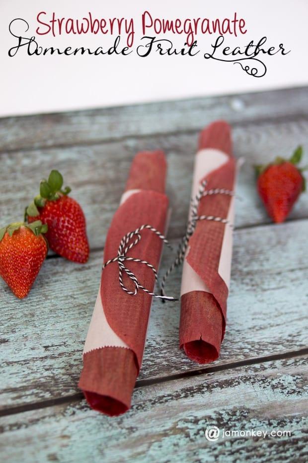 Strawberry Pomegranate Fruit Leather