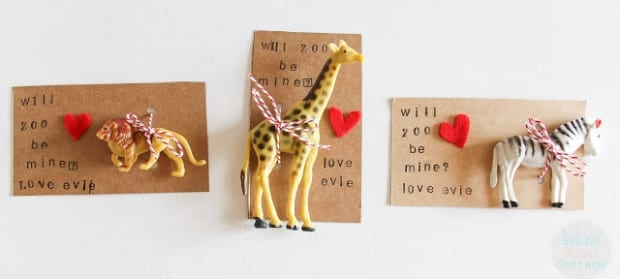 Zoo Animal Valentines
