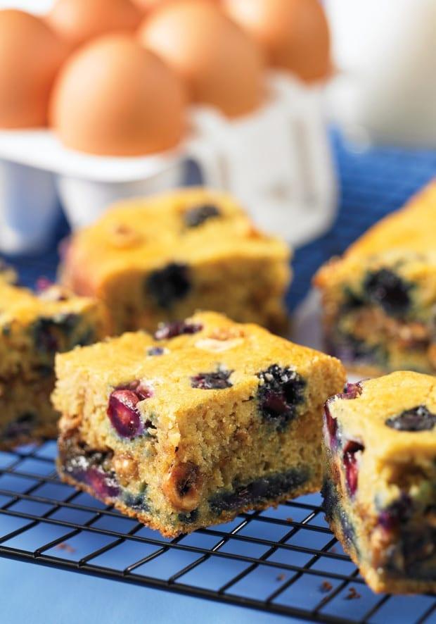 Gluten Free Blueberry Hazelnut Coffee Cake
