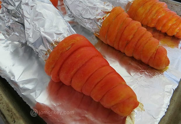 Egg Salad Crescent Carrots