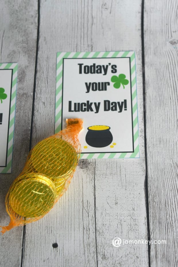Lucky Day Golden Chocolate Coin Printable
