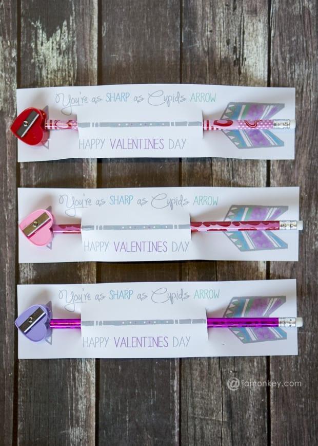 Pencil Sharpener Valentines