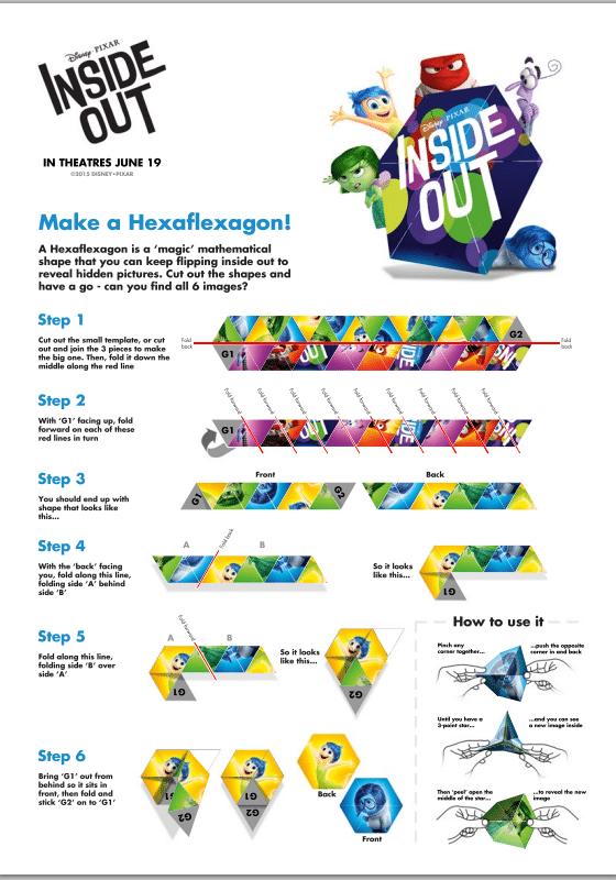 Disney Pixar Inside Out Activity Sheets — JaMonkey