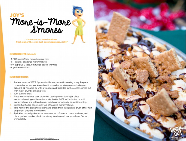 Disney Pixar Inside Out Recipes- Joys S'mores