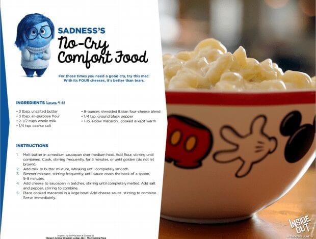 Disney Pixar Inside Out Recipes Sadness's Comfort Food
