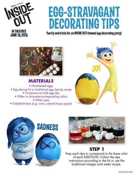 Disney Pixar Inside Out Activity Sheets