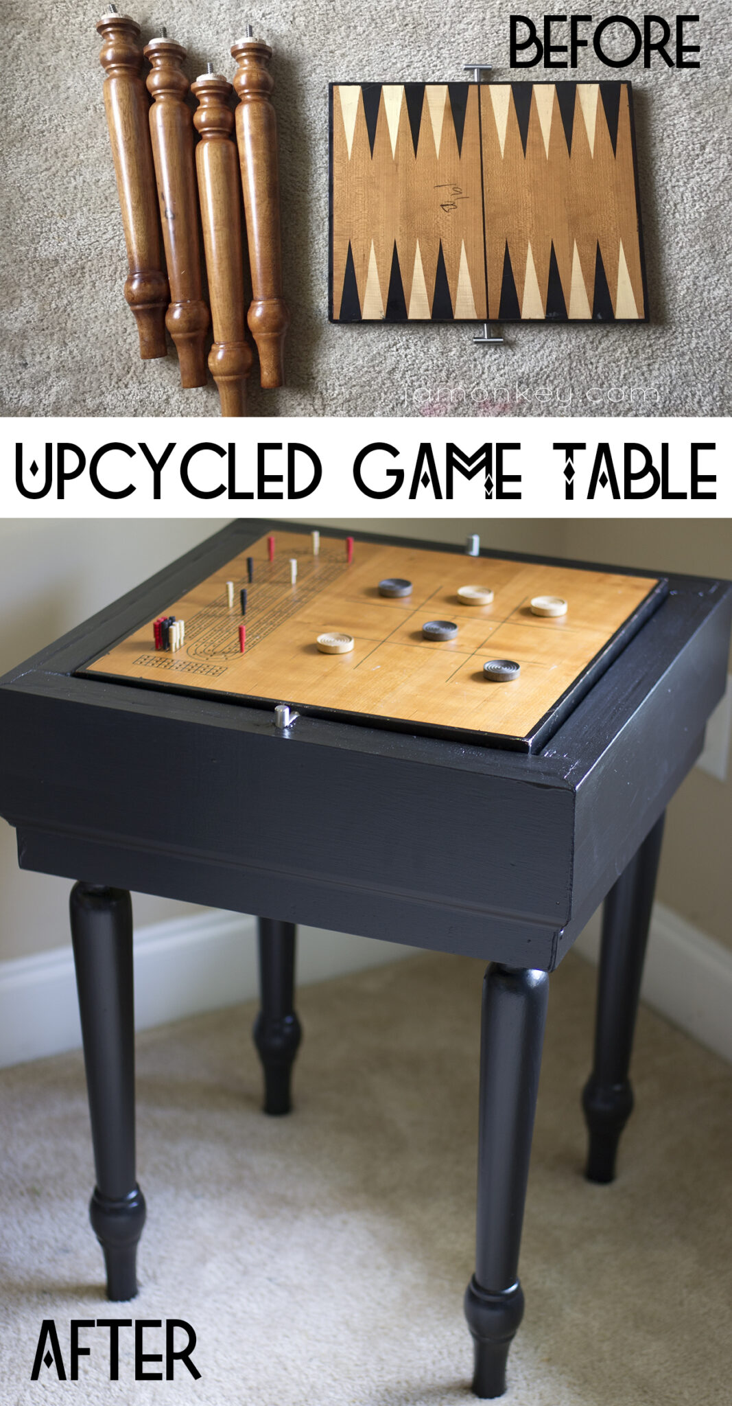 Upcycled Game Table