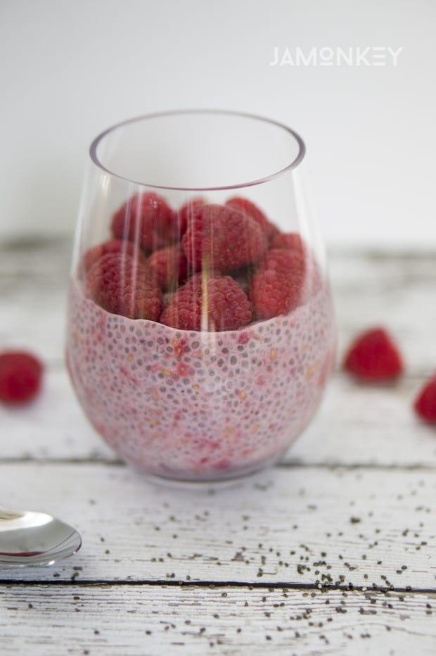 Raspberry Vanilla Chia Pudding
