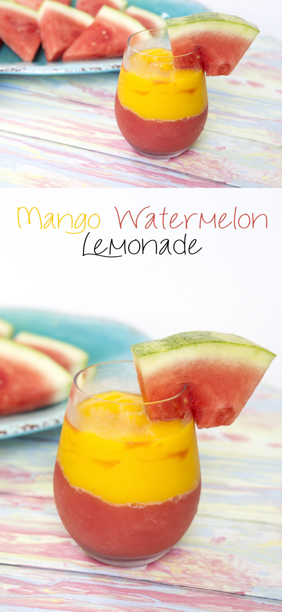 Frozen Mango Watermelon Lemonade