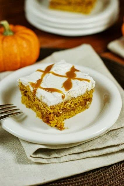 Caramel Pumpkin Snack Cake