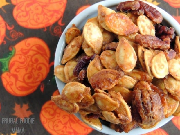 Cookie Butter Candied Pumpkin Seeds