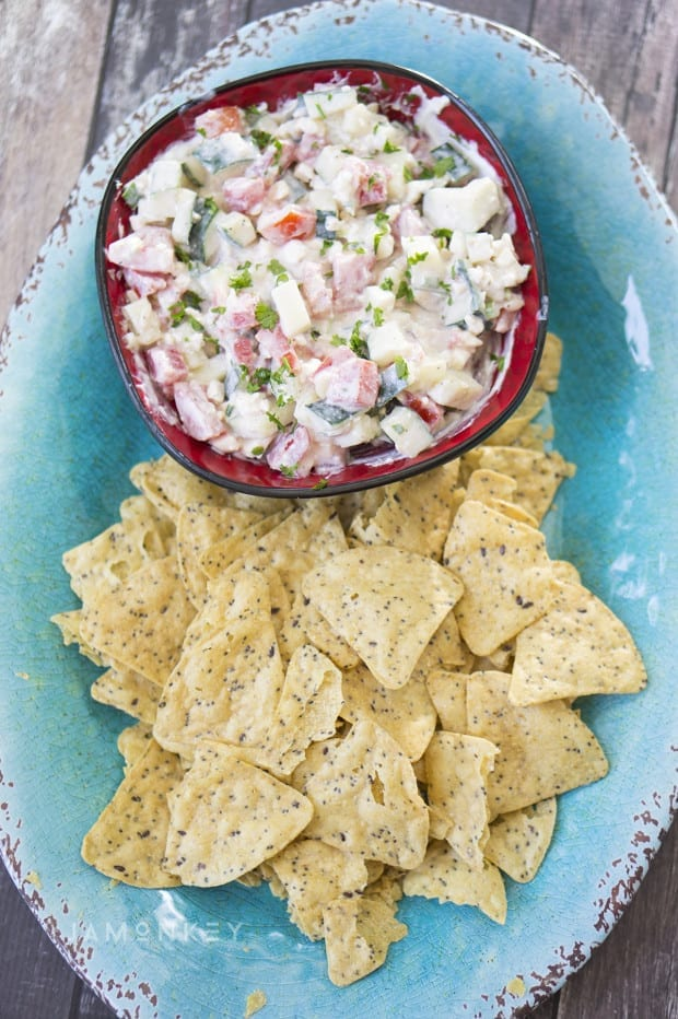Cucumber, Tomato and Feta Dip