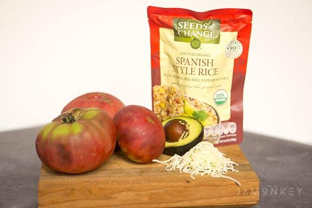 Spanish Stuff Cherokee Purple Tomatoes