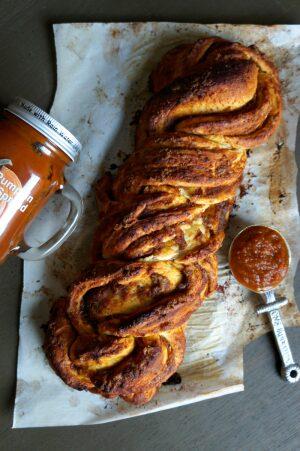 Pumpkin Butter Braided Bread