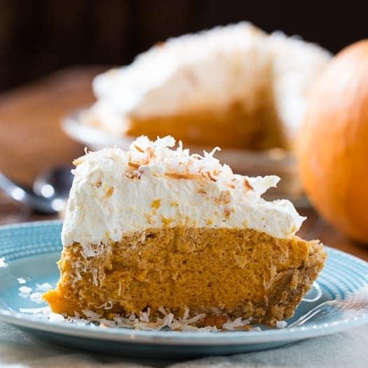 Coconut Pumpkin Chiffon Pie