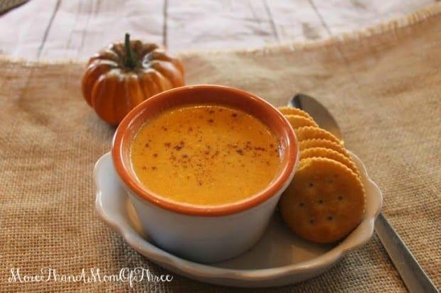 Creamy Parmesan Pumpkin Soup