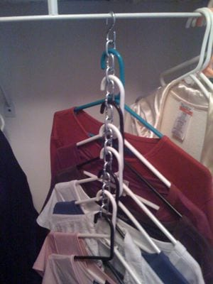 Save space in your closet with a chain