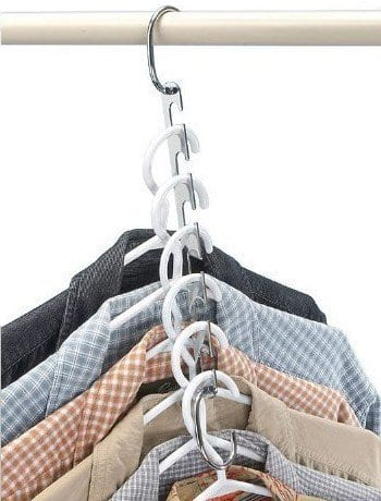 Save space with this closet hanger system