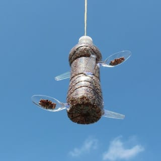 DIY Recycled Plastic Bottle Bird Feeder – Make Garbage Great