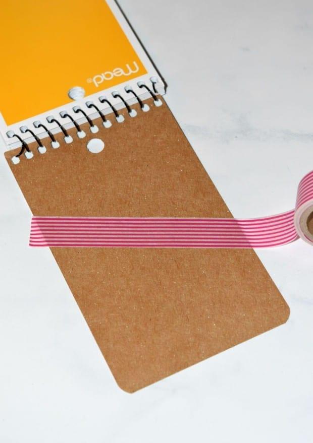Washi Tape Notebook process