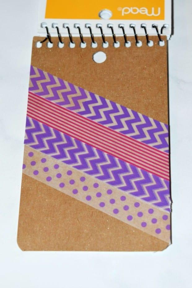 Washi Tape Notebook process1