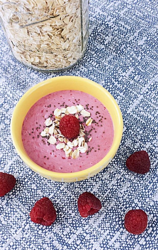 Vanilla Berry Protein Smoothie Bowl