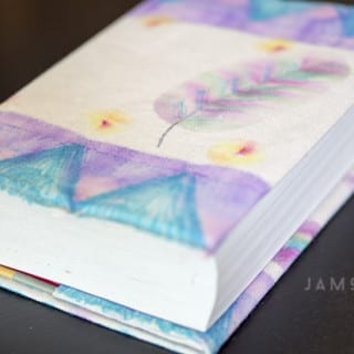 DIY Sharpie Watercolor Book Cover Tutorial VIDEO