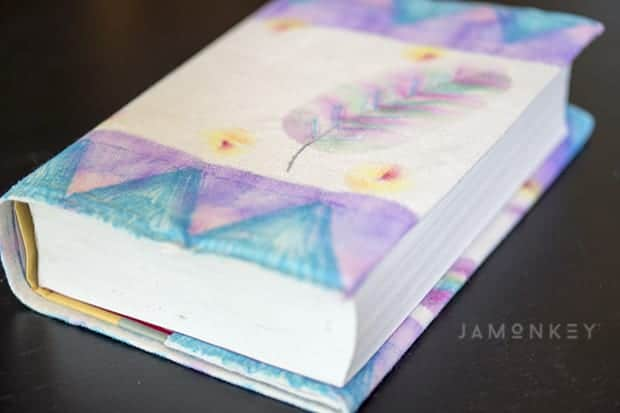 Book Cover Watercolor Mixing : Diy sharpie watercolor book cover tutorial video jamonkey