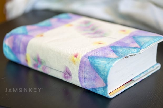 DIY Sharpie Watercolor Book Cover Tutorial with Video